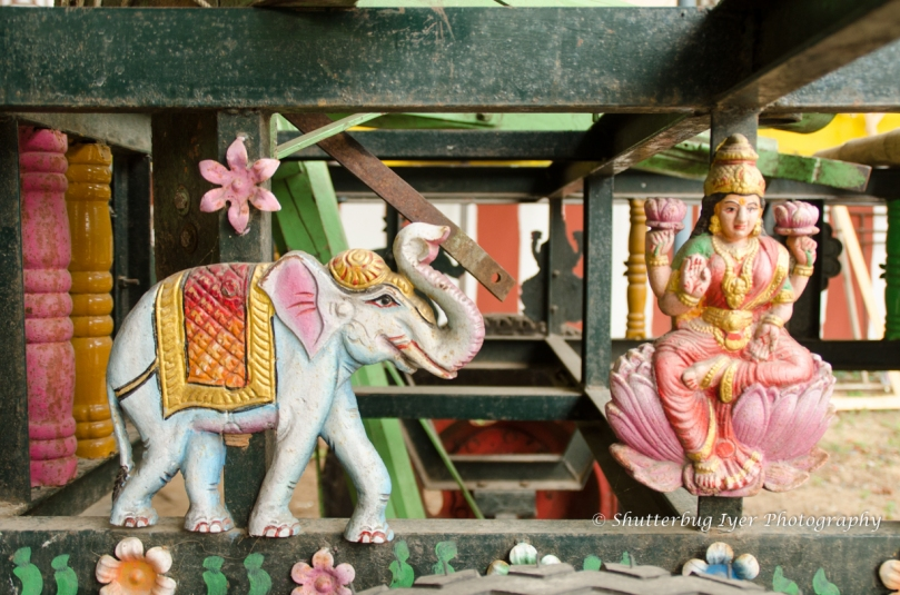 Gajalakshmi motif from a temple chariot